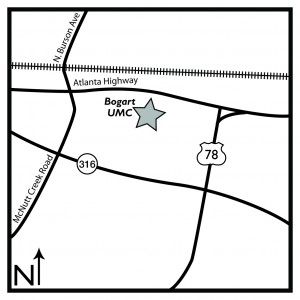 Map to Bogart UMC
